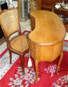 Louis XV Style Kidney Shaped Desk and Chair