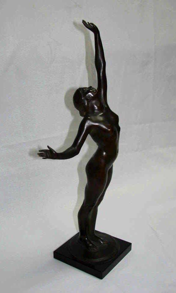 """Bronze Sculpture, Harriet W. Frishmuth, """"The Star"""""""