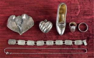 Grouping of Sterling Silver Jewelry