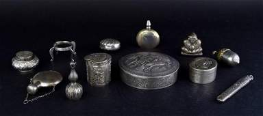 Grouping of Silver Accessories
