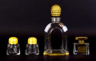 Grouping of 4 Crystal Perfumes