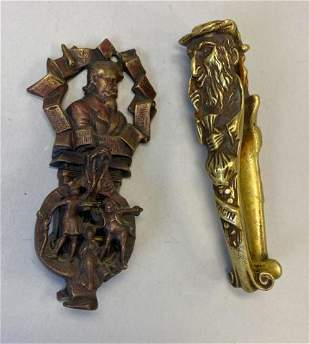 2 Charles Dickens Brass Items