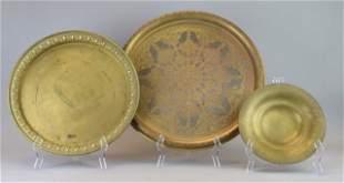 3 Brass Trays