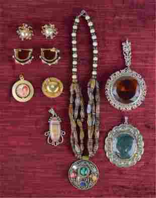 Group of Vintage Retro Costume Jewelry