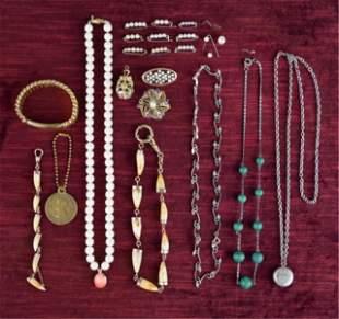 Group of Vintage Retro Costume Jewelry