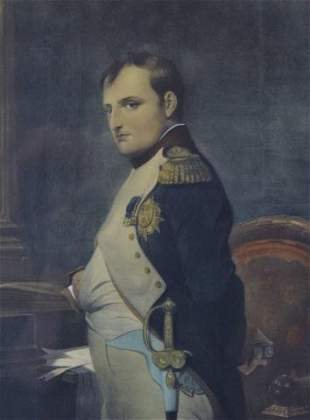 Portrait of Napoleon Hand Colored Engraving