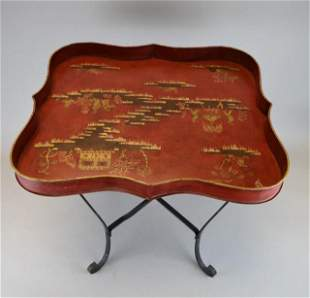 Chinoiserie Tole Tray Top Table