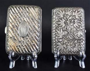 2 Silver Cigarette Cases