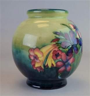 Moorcroft Pottery Spring Flowers Vase
