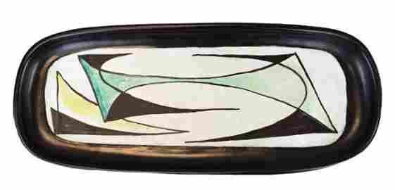 Georges Jouve Glazed Ceramic Platter