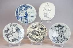 Grouping of Danish Porcelain Plaques