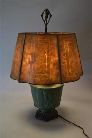 Muncie Pottery Dancing Nudes Lamp