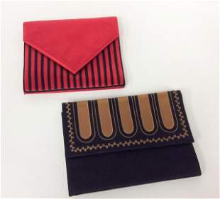 Valentino 2 Satin Clutch Evening Bags