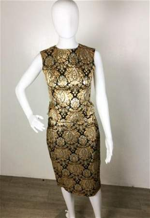 Vintage Lord & Taylor Baroque Gold /Silver 2 pc.