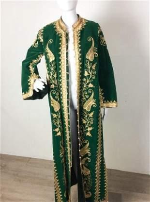 Vintage Custom Creation Ornate Green Velvet Jacket