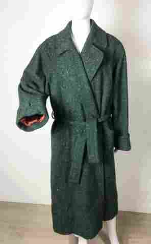 Yves Saint Laurent Rive Gauche Wool Wrap Coat