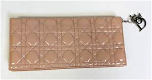 Pink Christian Dior Small Quilted Clutch