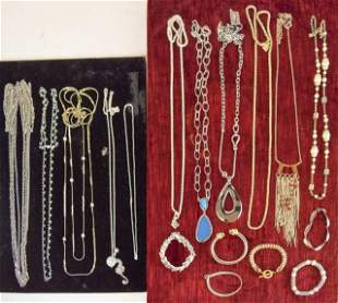 Lot of Silver and Gold Tone Jewelry