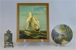 Grouping of Three Oil Paintings