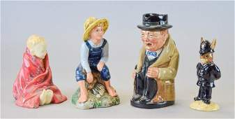 Grouping of Four Royal Doulton Figurines
