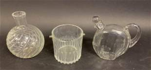 3 Piece Baccarat Crystal Barware Grouping