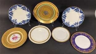 7 English & Continental Porcelain Plates