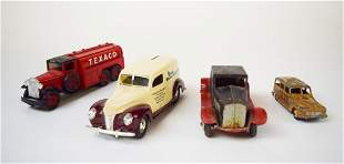Two Diamond Bank Cars & Two Metal Toy Cars