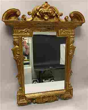 Carved Gilt Wood & Gesso Mirror