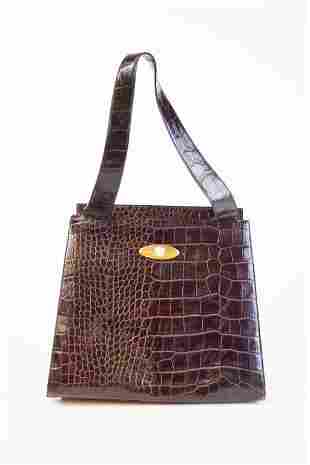 Gianni Versace Alligator Leather Handbag