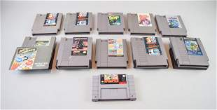 Grouping of Nintendo Games including Top Gun