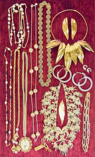 Grouping of Necklaces and Earrings
