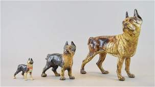 Grouping of Cast Iron Boston Terriers
