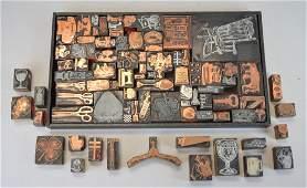 Grouping of Vintage Printing Blocks