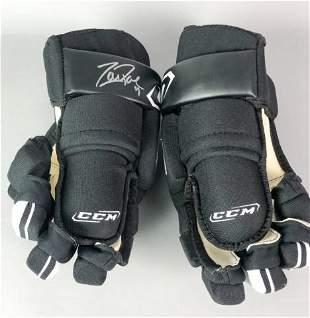Zach Parise Autographed Hockey Gloves