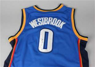 Autographed Russell Westbrook Thunder Jersey