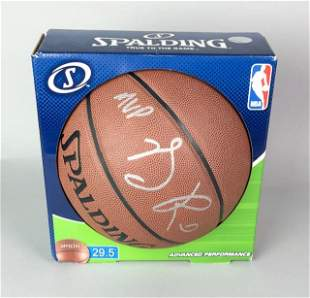 Derrick Rose Autographed Basketball