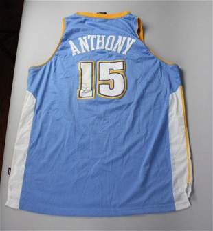 Autographed Carmelo Anthony Denver Nuggets Jersey