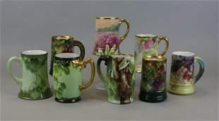 8 Limoges & Bavarian Porcelain Mugs