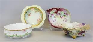 4 Limoges Porcelain Serving Bowls