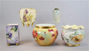 Grouping of Five Porcelain Vases
