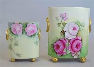 William Guerin Limoges Porcelain Cachepots