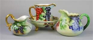 Grape Motif Limoges Porcelain Grouping