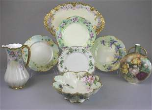 Haviland Limoges Hand Painted Porcelain Grouping