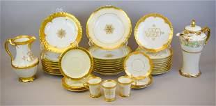 Limoges & Rosenthal Gilt Decorated Dinnerware
