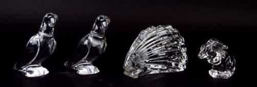 Baccarat & Steuben Crystal Animals