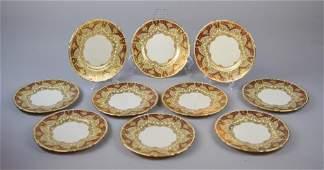10 Lenox Green Mark Bread & Butter Plates