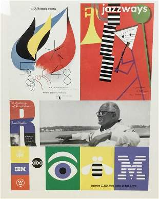 Paul Rand 1994 Exhibition Poster Print