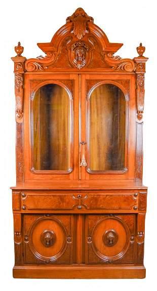 American Renaissance Revival Secretary Bookcase