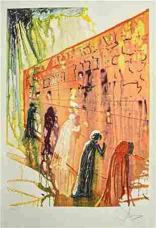 Salvador Dali Lithograph Le Mur des Lamentations