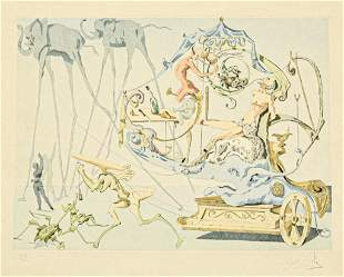 Salvador Dali Lithograph The Grape Pickers